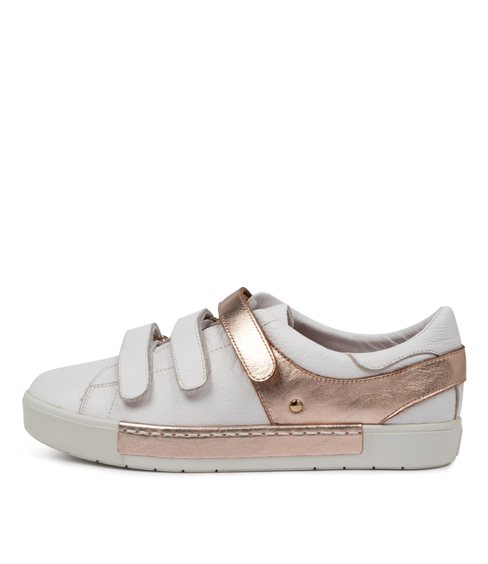 Buy Django & Juliette Valery Dj White Rose Gold Sneakers online with free shipping