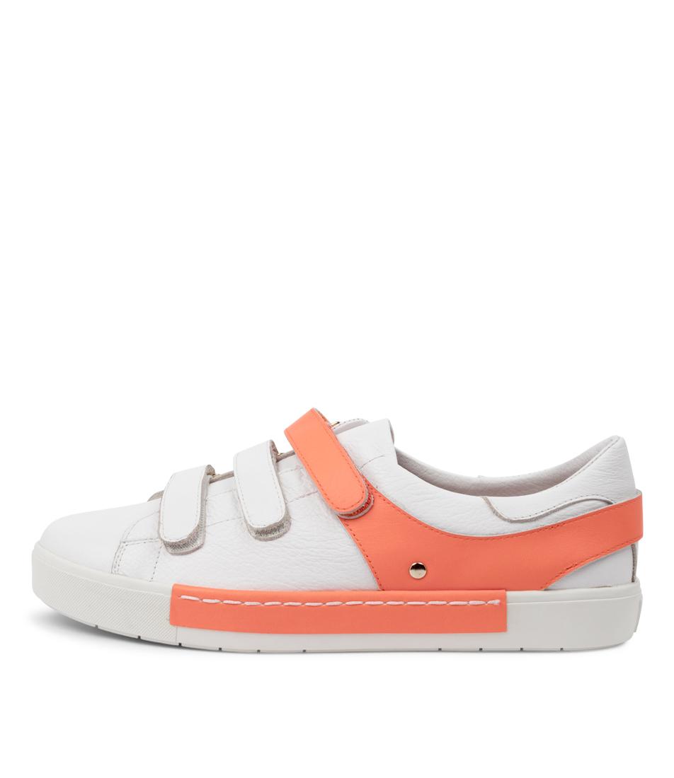 Buy Django & Juliette Valery Dj White Orange Fluro Sneakers online with free shipping