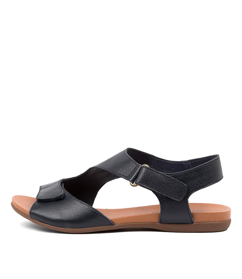 Buy Django & Juliette Brodie Dj Navy Flat Sandals online with free shipping