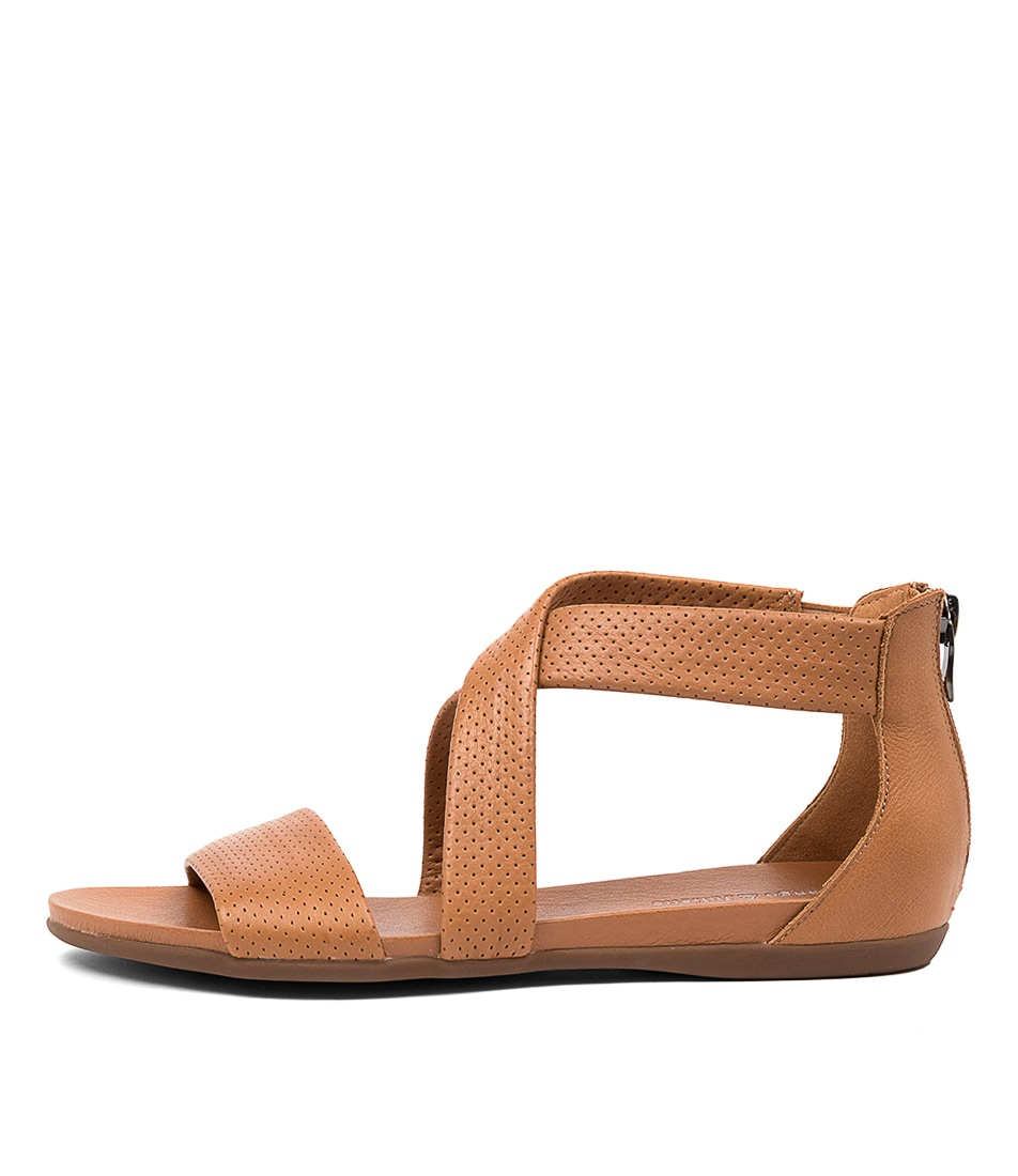 Buy Django & Juliette Barron Dj Dk Tan Flat Sandals online with free shipping