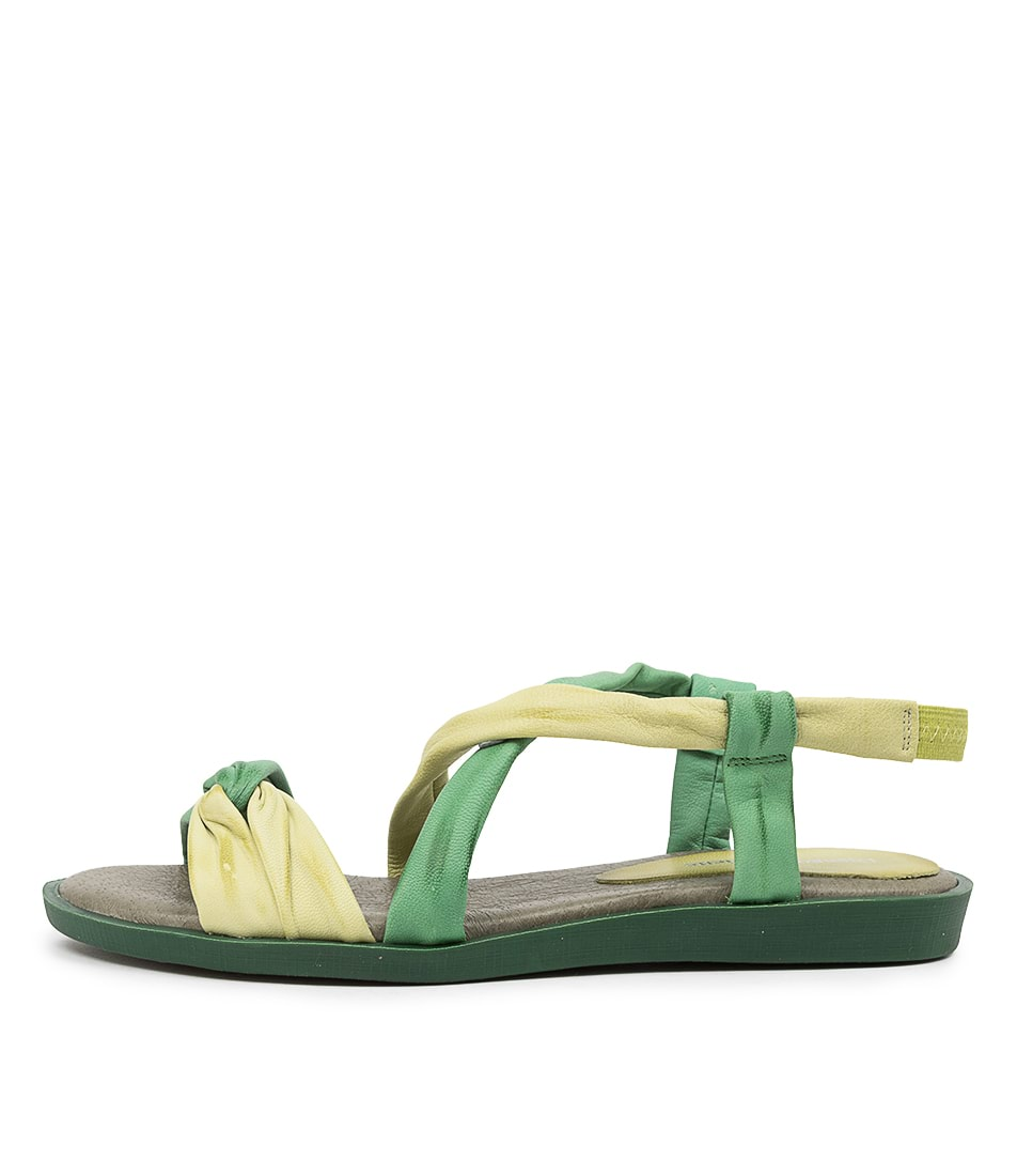 Buy Django & Juliette March Dj Green Flat Sandals online with free shipping