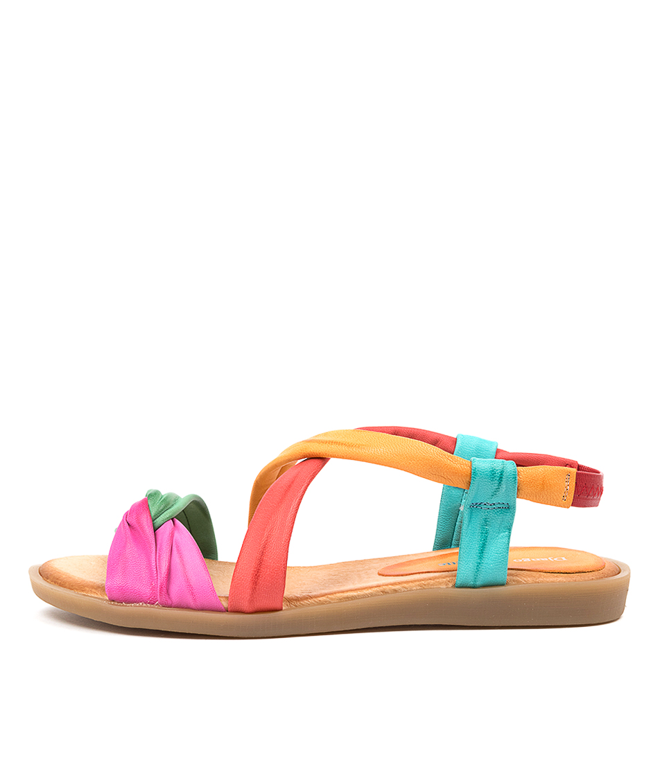 Buy Django & Juliette March Dj Red Flat Sandals online with free shipping