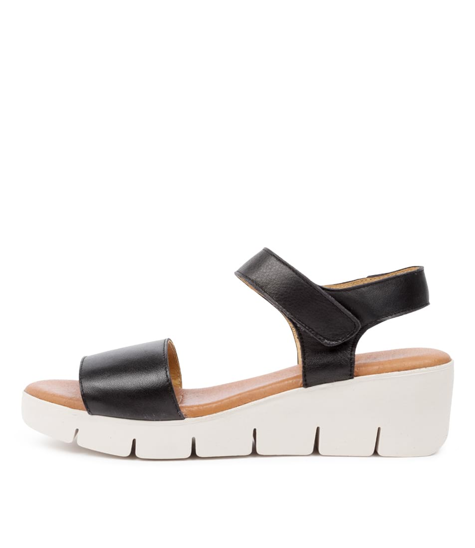 Buy Django & Juliette Gines Dj Black Flat Sandals online with free shipping
