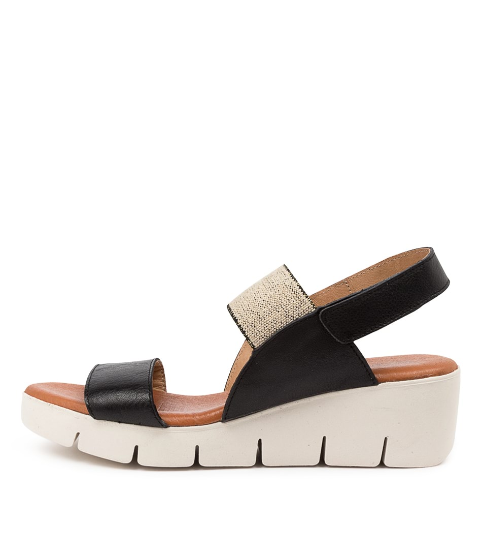 Buy Django & Juliette Gogo Dj Black Flat Sandals online with free shipping
