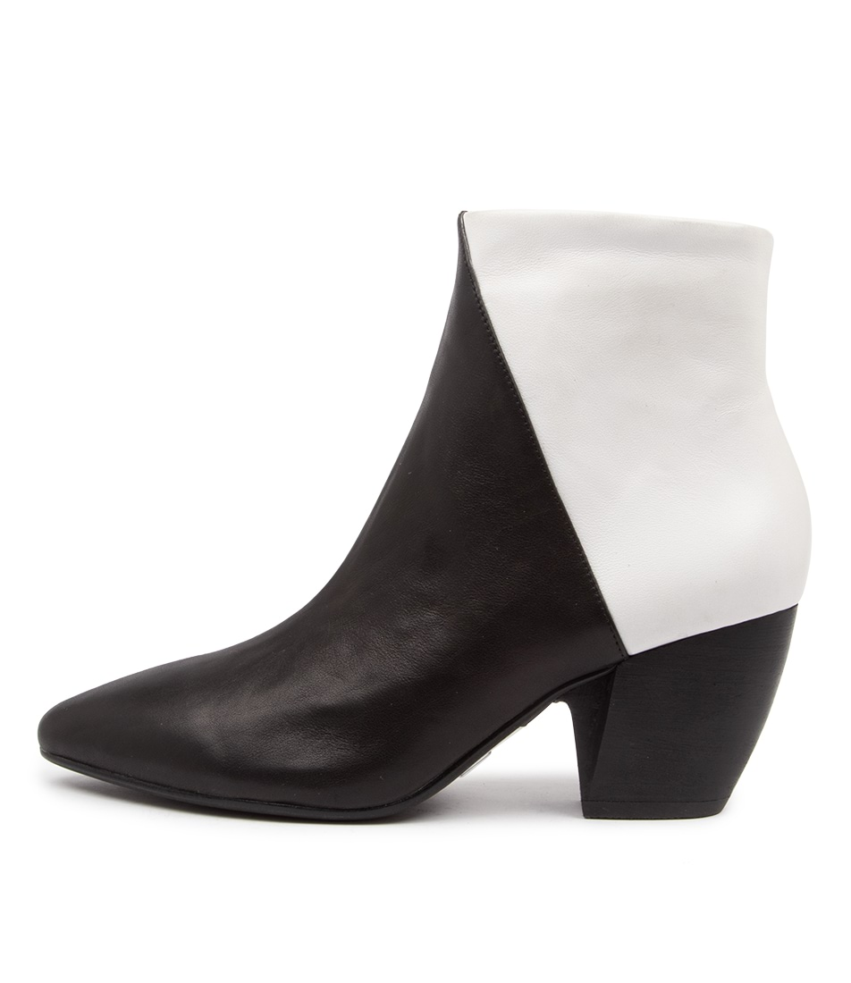 Buy Django & Juliette Agro Dj Black White Ankle Boots online with free shipping