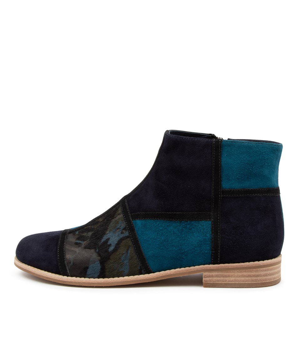 Buy Django & Juliette Abbeye Dj Navy Multi Ankle Boots online with free shipping