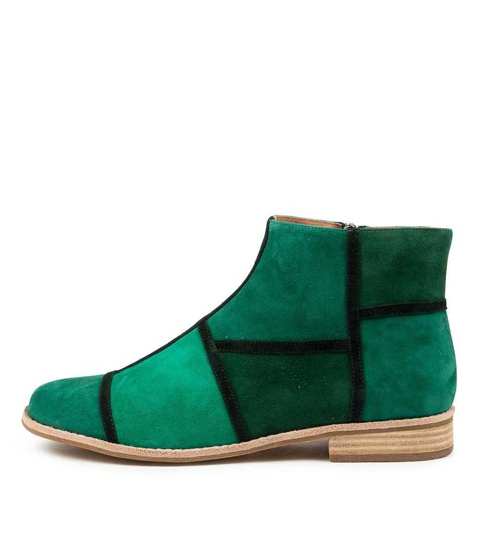 Buy Django & Juliette Abbeye Dj Green Ankle Boots online with free shipping