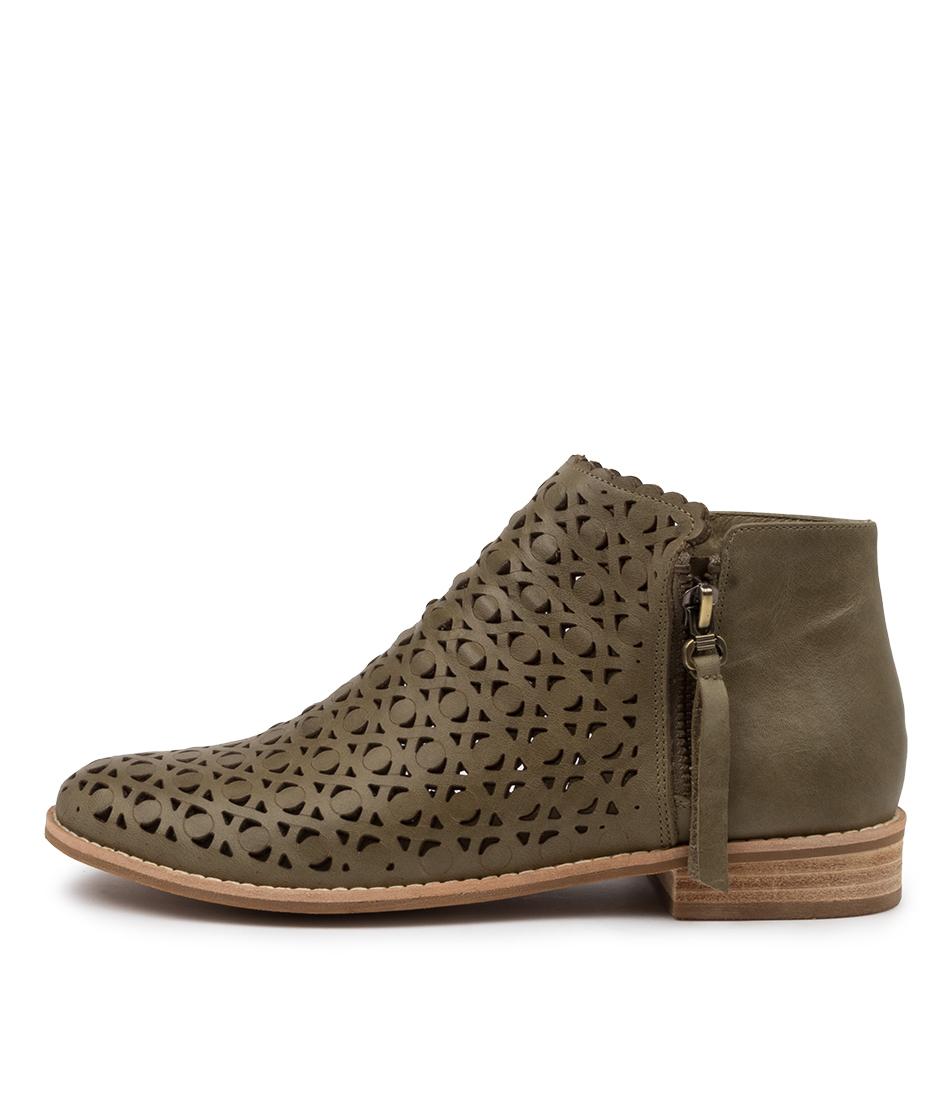 Buy Django & Juliette Ayras Dj Khaki Ankle Boots online with free shipping