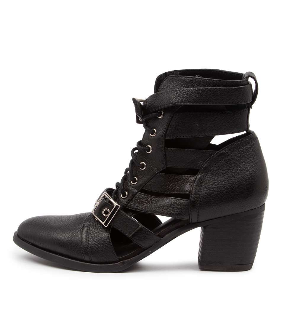 Buy Django & Juliette Bryon Dj Black Heel Dress Ankle Boots online with free shipping