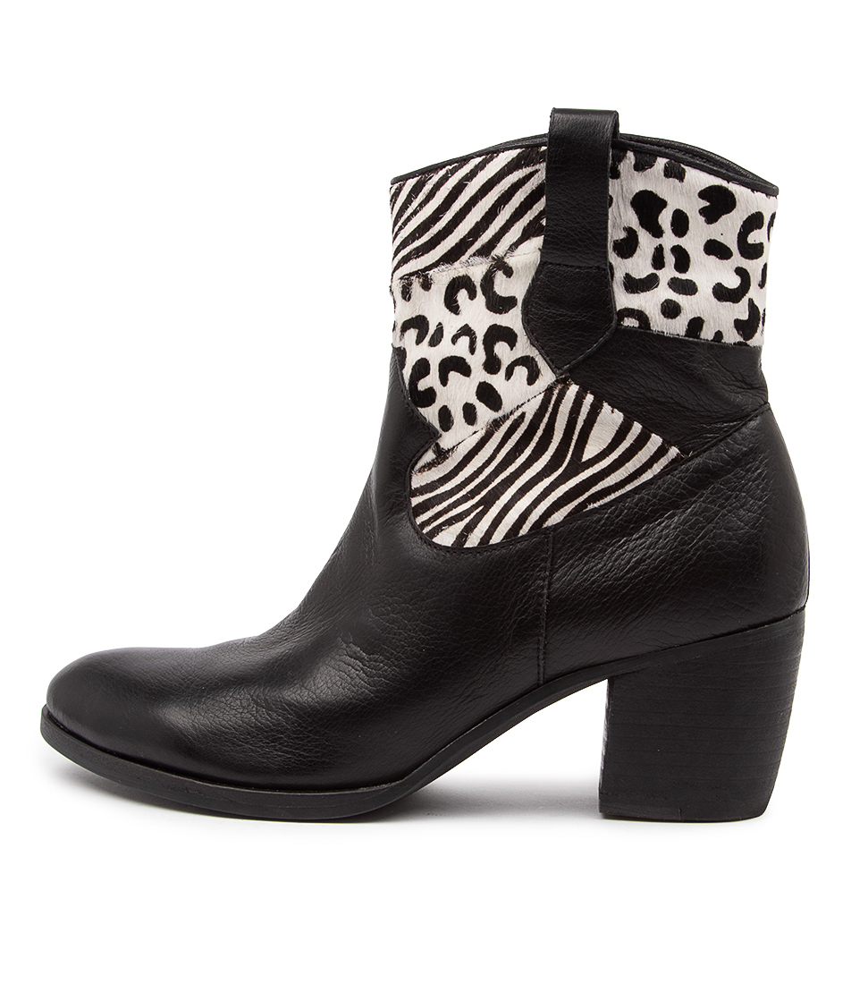 Buy Django & Juliette Briana Dj Black Ankle Boots online with free shipping