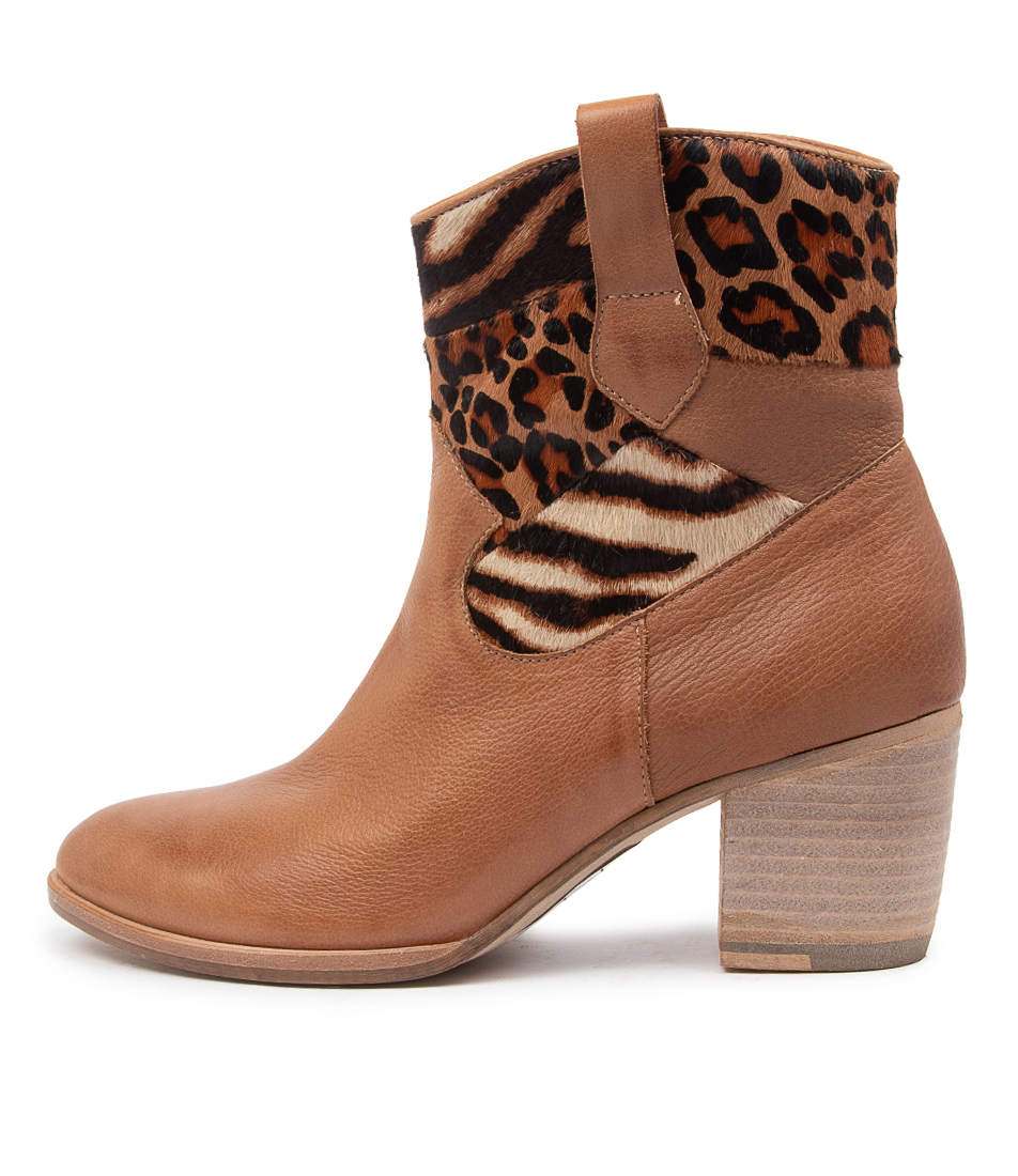 Buy Django & Juliette Briana Dj Cognac Ankle Boots online with free shipping