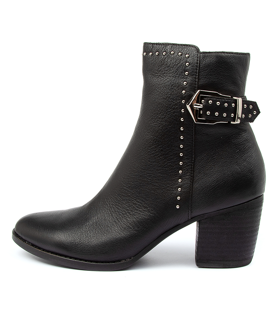 Buy Django & Juliette Britt Dj Black Black Heel Ankle Boots online with free shipping