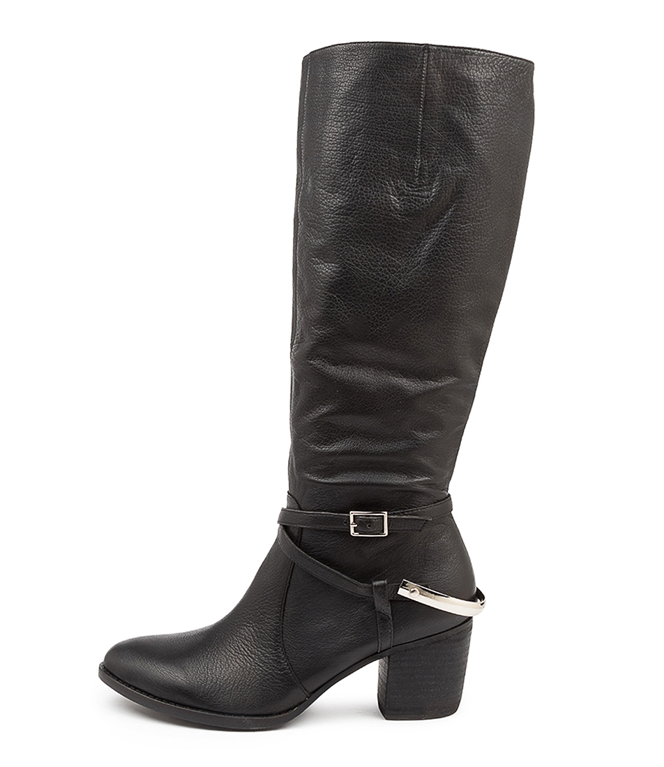 Buy Django & Juliette Benji Dj Black Heel Long Boots online with free shipping