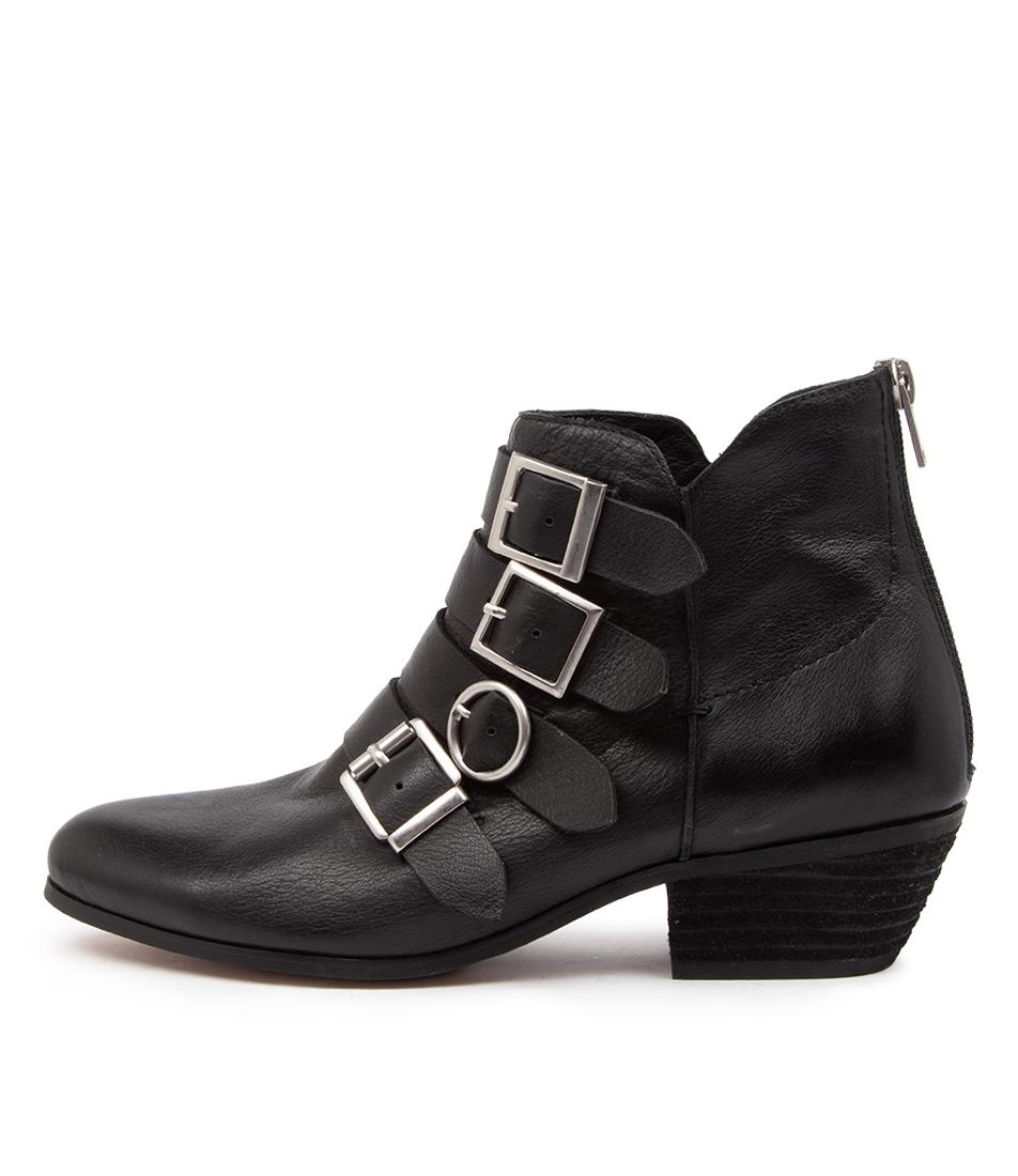Buy Django & Juliette Cowdy Dj Black Heel Ankle Boots online with free shipping