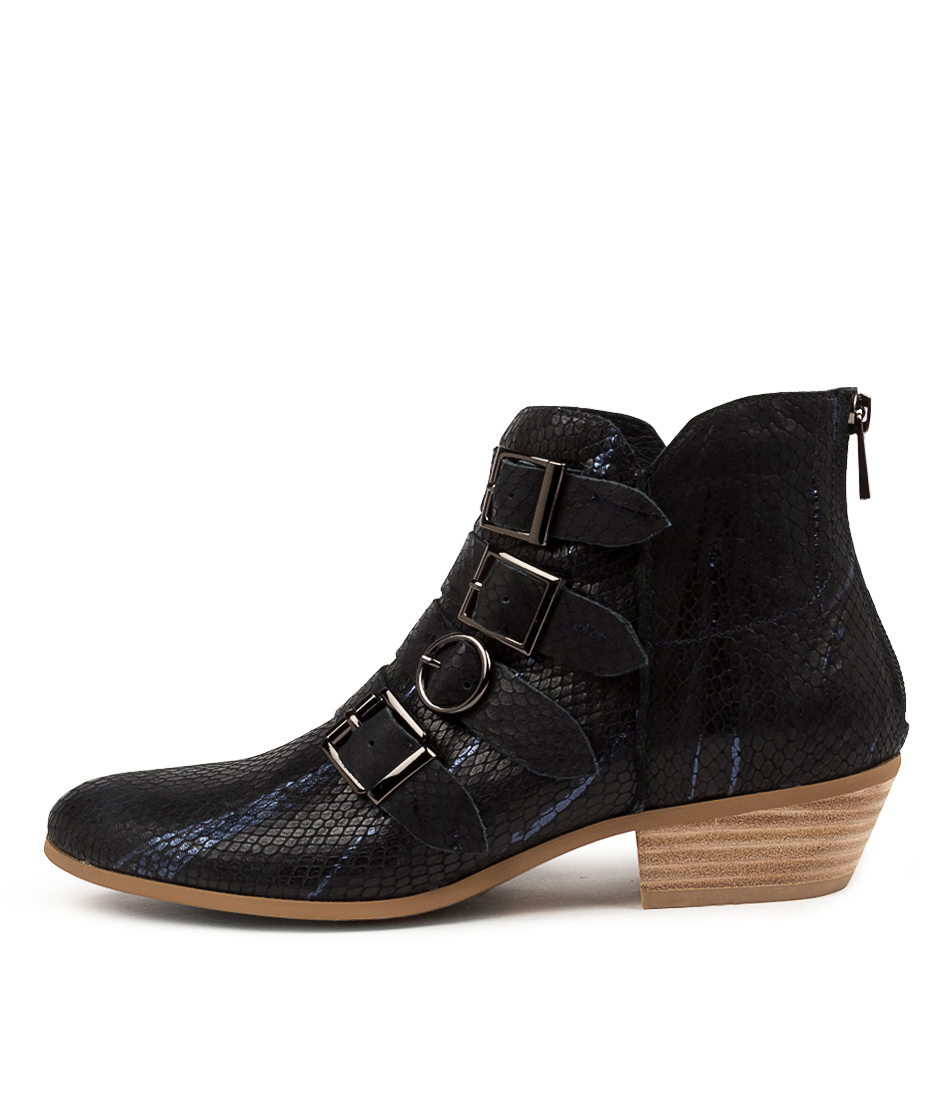 Buy Django & Juliette Cowdy Dj Navy & Blue Ankle Boots online with free shipping