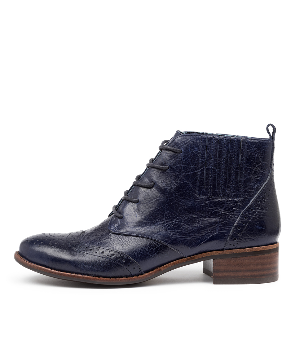 Buy Django & Juliette Claris Dj Navy Ankle Boots online with free shipping