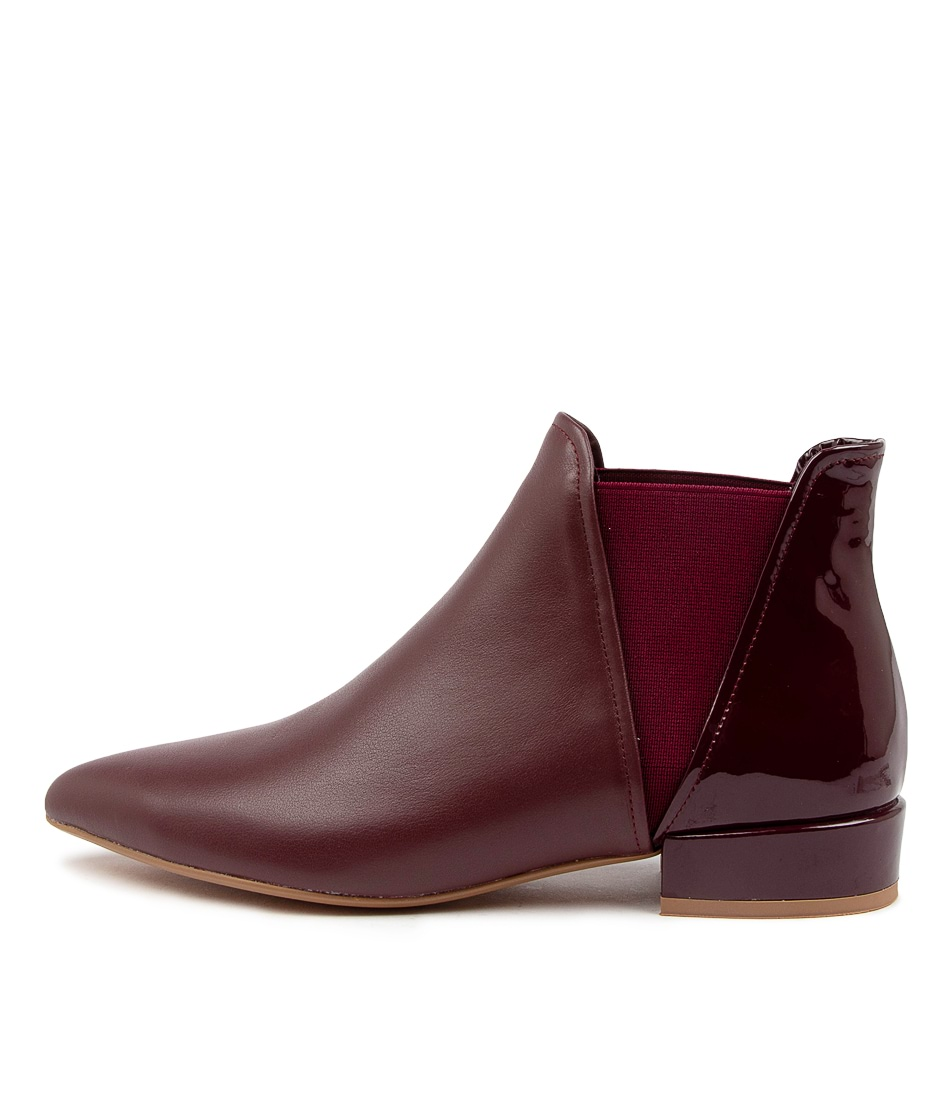 Buy Django & Juliette Evelyn Dj Burgundy Ankle Boots online with free shipping