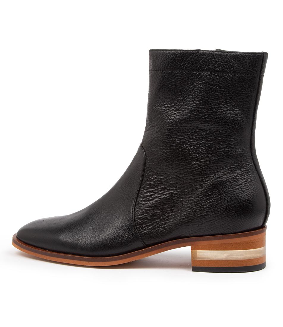 Buy Django & Juliette Fullest Dj Black Natural Heel Dress Ankle Boots online with free shipping