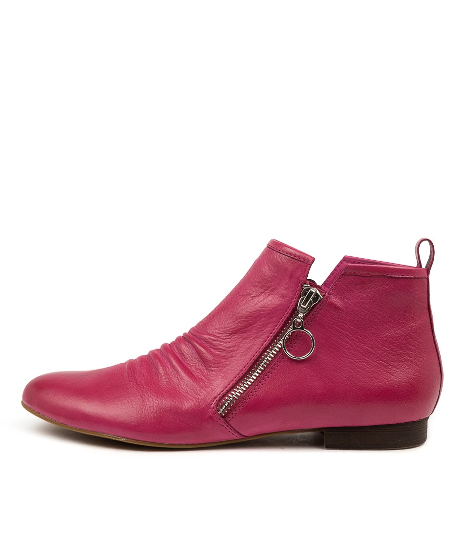 Buy Django & Juliette Gingerly Dj Fuchsia Ankle Boots online with free shipping