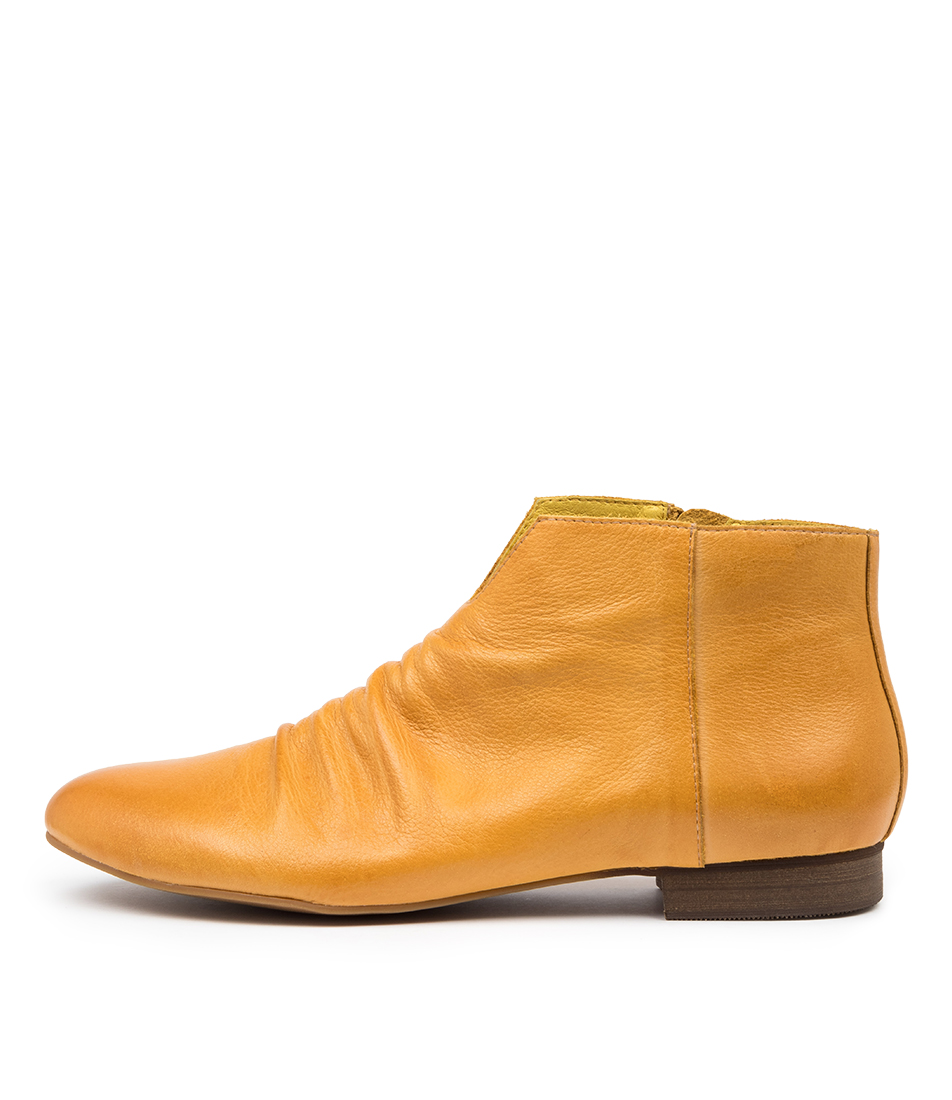 Buy Django & Juliette Gwen Dj Dk Yellow Tan Ankle Boots online with free shipping