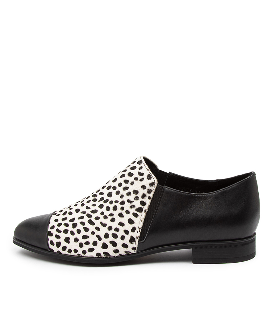 Buy Django & Juliette Gerrit Dj Black White & Black Dot Flats online with free shipping