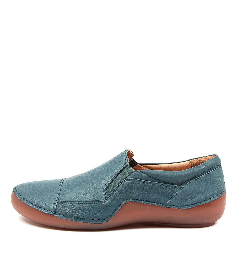 Buy Django & Juliette Gregg Dj Sea Blue Flats online with free shipping