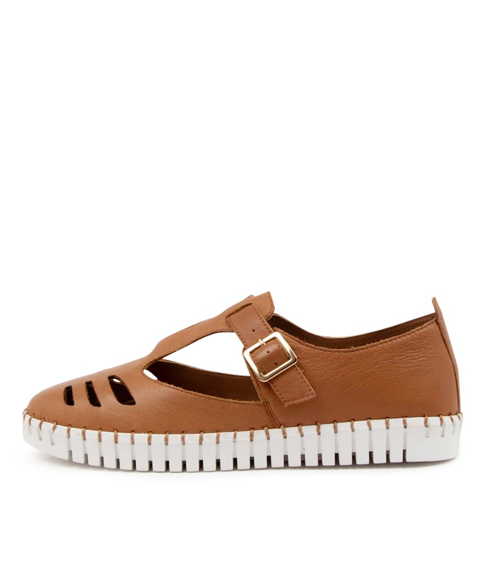 Buy Django & Juliette Hugo Dj Dk Tan White Sole Sneakers online with free shipping