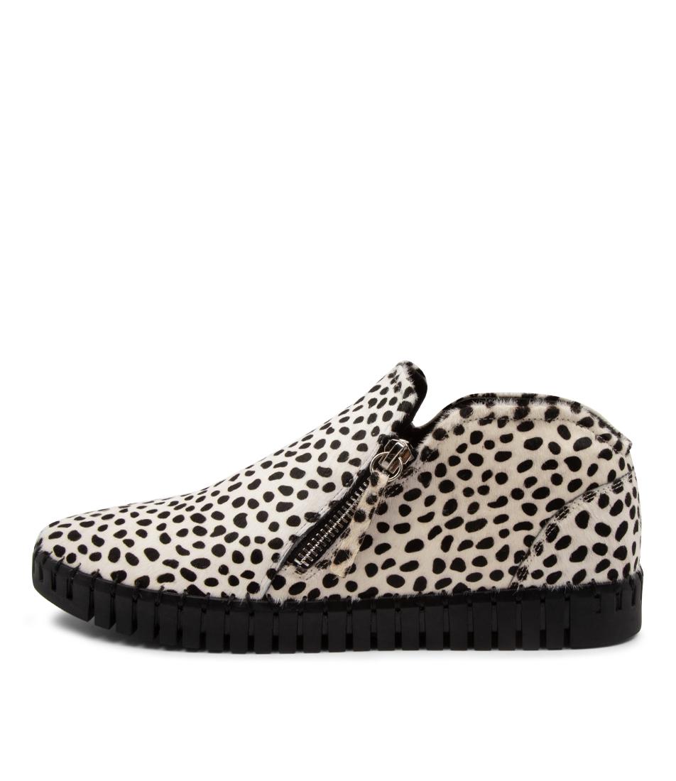 Buy Django & Juliette Hank Dj White Dot Black Sole Sneakers online with free shipping