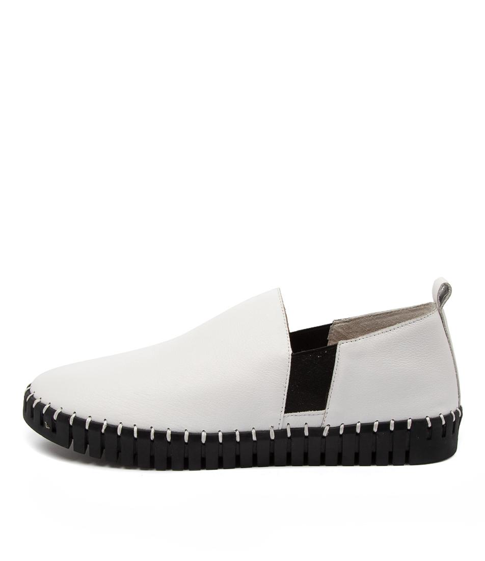 Buy Django & Juliette Honkey Dj White Black Sole Sneakers online with free shipping