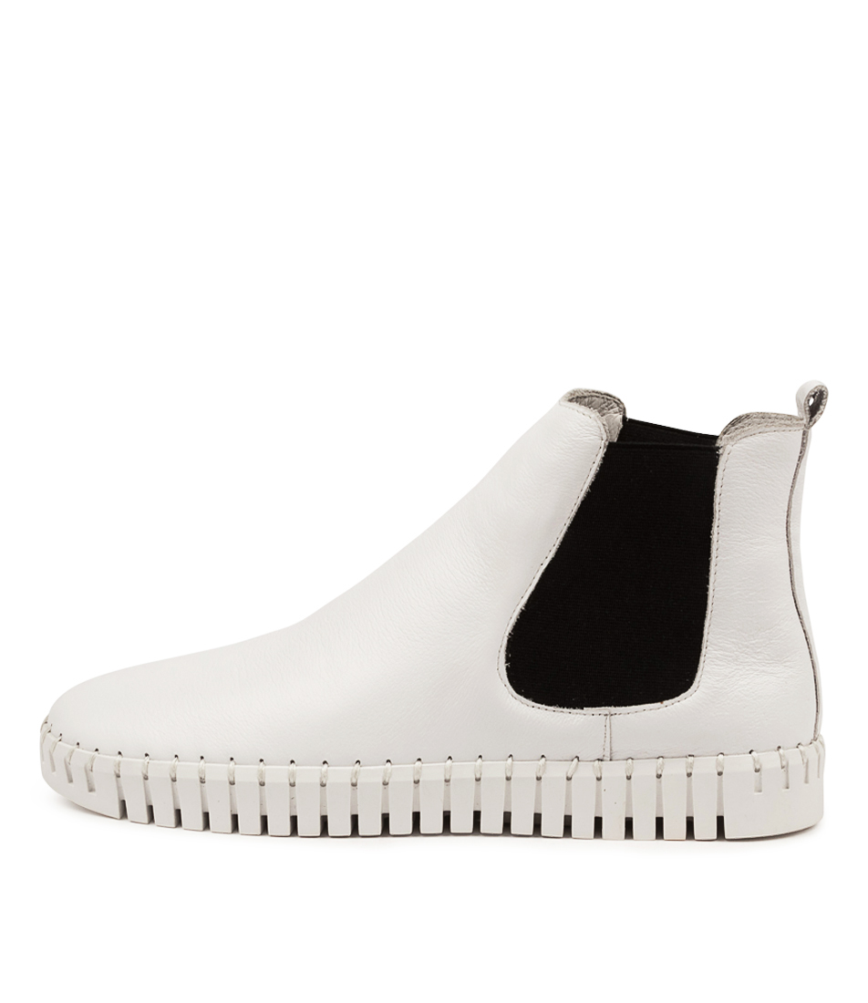 Buy Django & Juliette Horton Dj White Black White Sole Ankle Boots online with free shipping