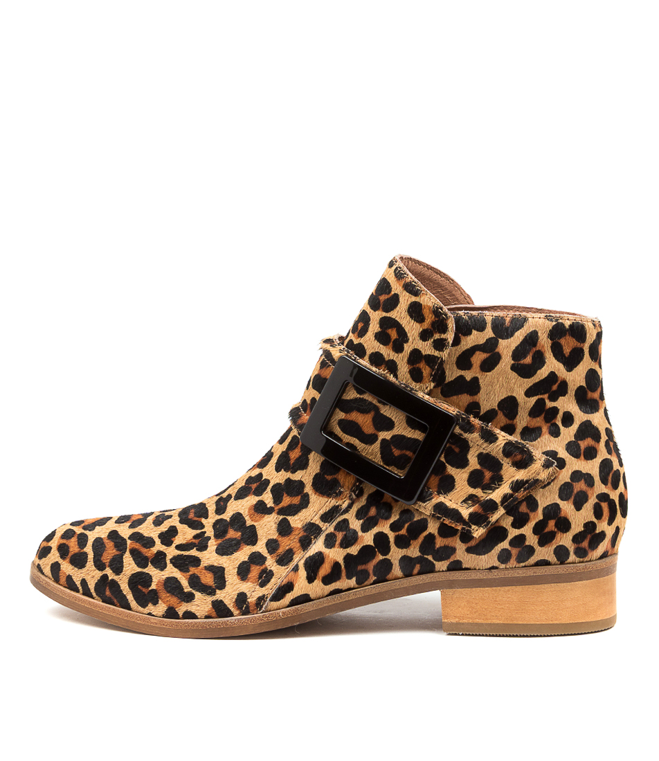 Buy Django & Juliette Inquest Dj Tan Leopard Ankle Boots online with free shipping