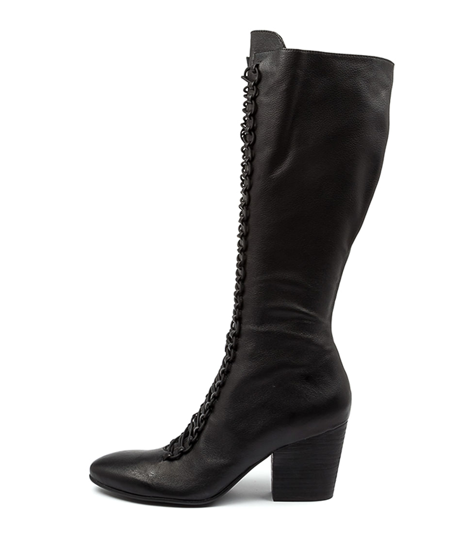 Buy Django & Juliette Ivylike Dj Black Heel Long Boots online with free shipping