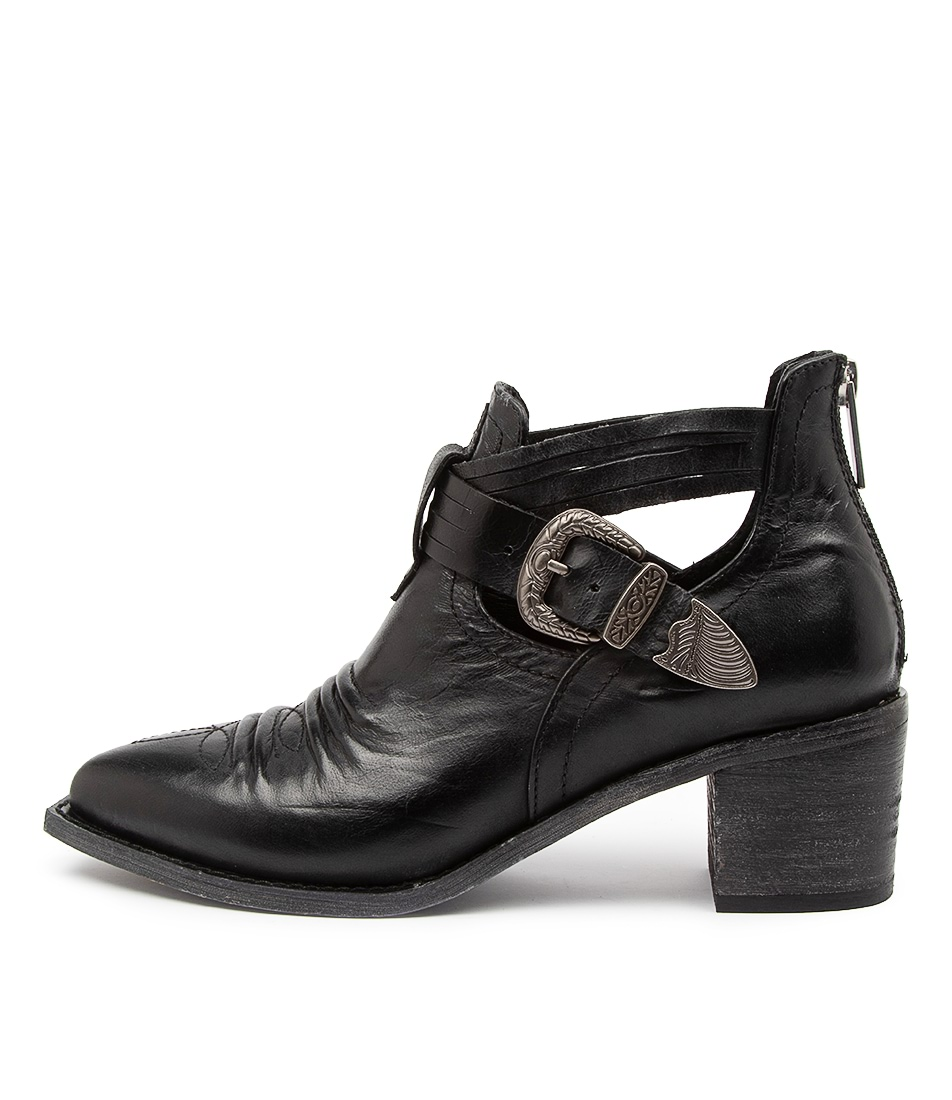 Buy Django & Juliette Izora Dj Black Ankle Boots online with free shipping
