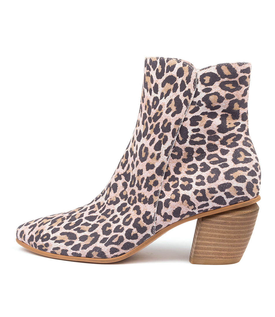 Buy Django & Juliette Jaggy Dj Pink Ankle Boots online with free shipping