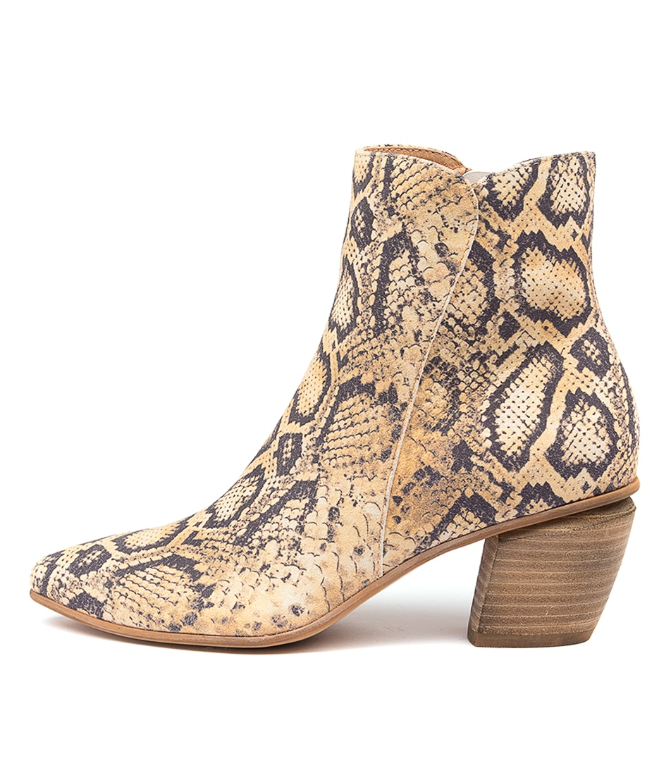 Buy Django & Juliette Jaggy Dj Yellow Ankle Boots online with free shipping