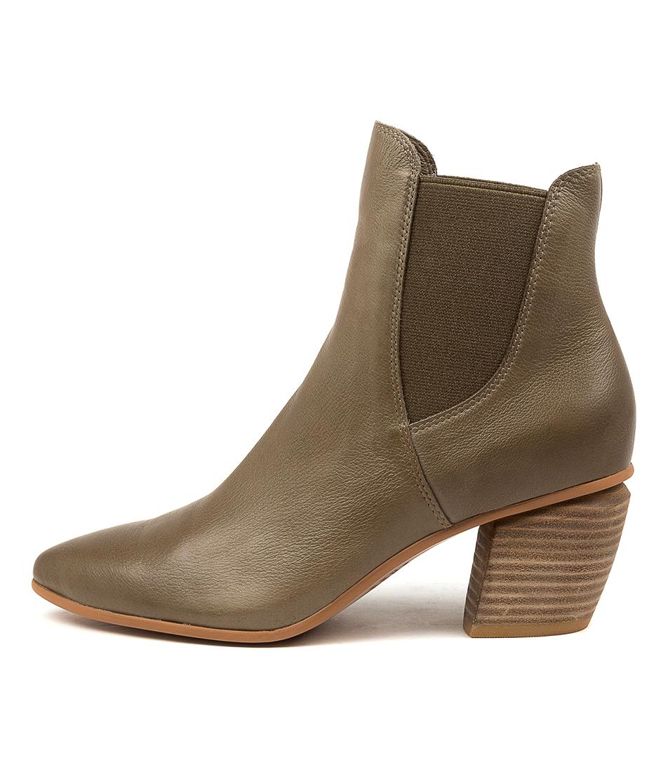 Buy Django & Juliette Jinks Dj Khaki Ankle Boots online with free shipping