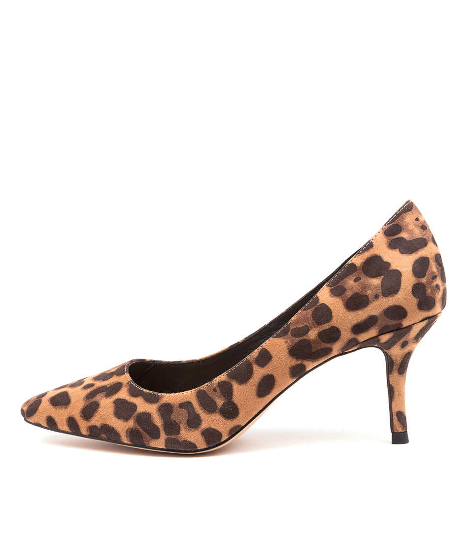 Buy Django & Juliette Lonny Dj Tan Leopard High Heels online with free shipping