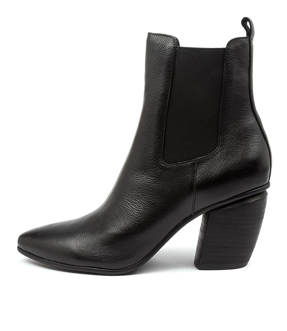 Buy Django & Juliette Lowly Dj Black Black Heel Ankle Boots online with free shipping
