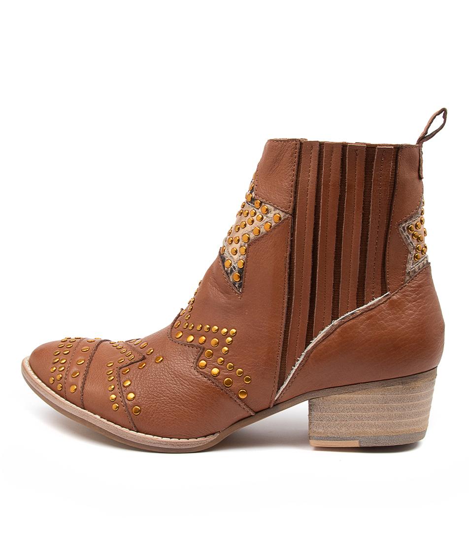 Buy Django & Juliette Lifeline Dj Cognac Ankle Boots online with free shipping