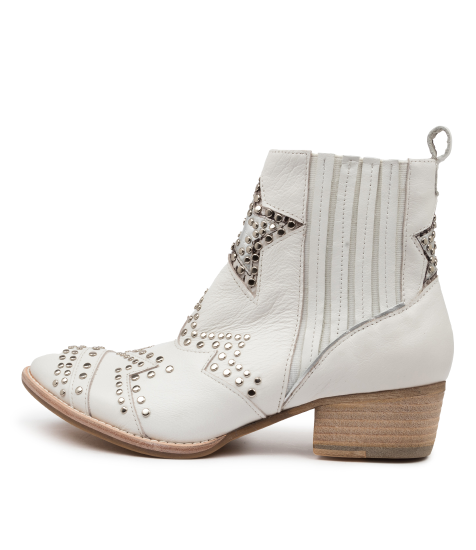 Buy Django & Juliette Lifeline Dj White Ankle Boots online with free shipping