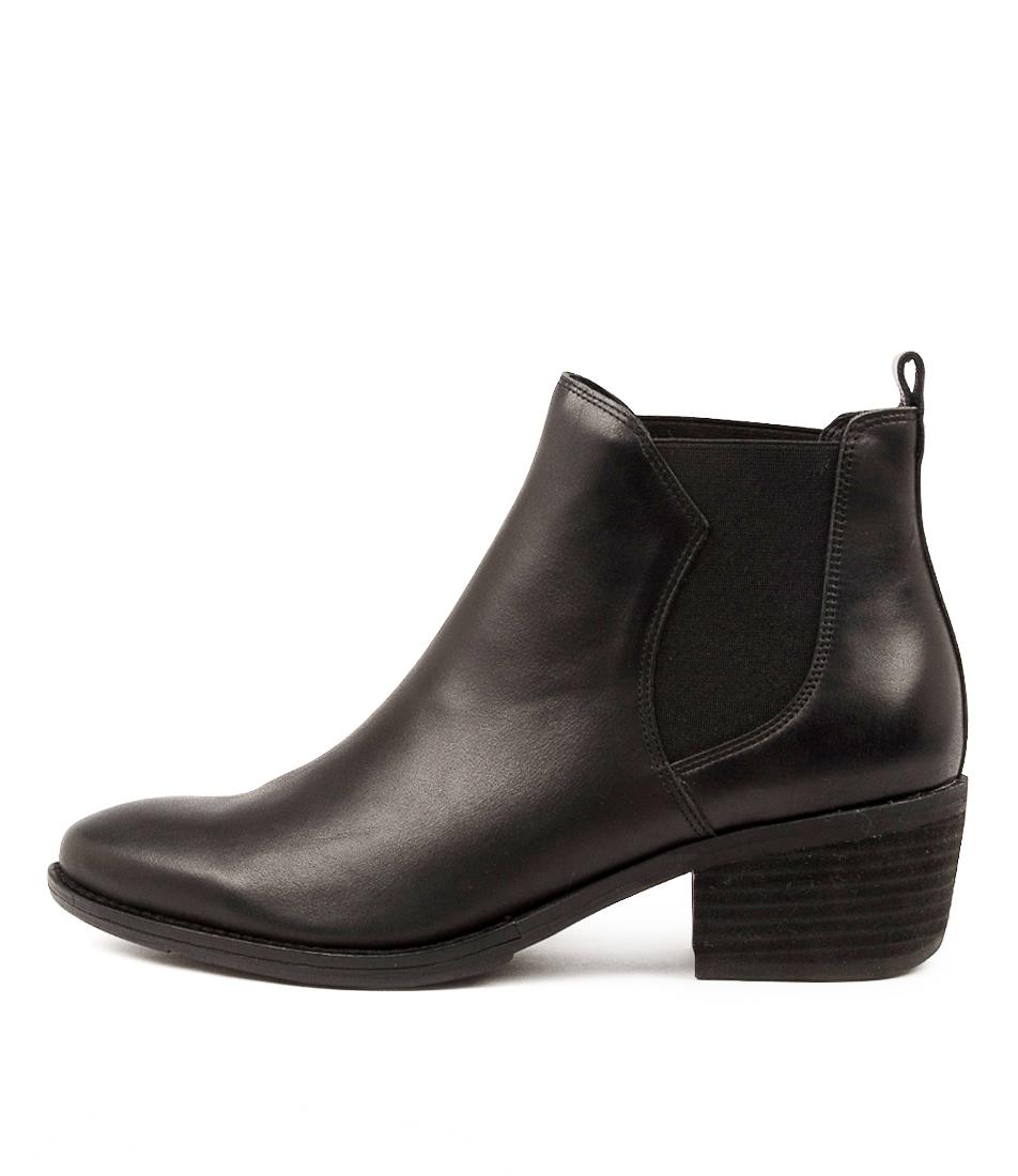 Buy Django & Juliette Linger Dj Black Black Heel Ankle Boots online with free shipping
