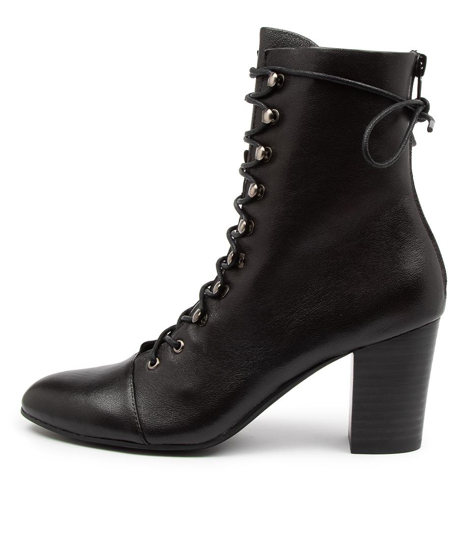 Buy Django & Juliette Lozenge Dj Black Ankle Boots online with free shipping