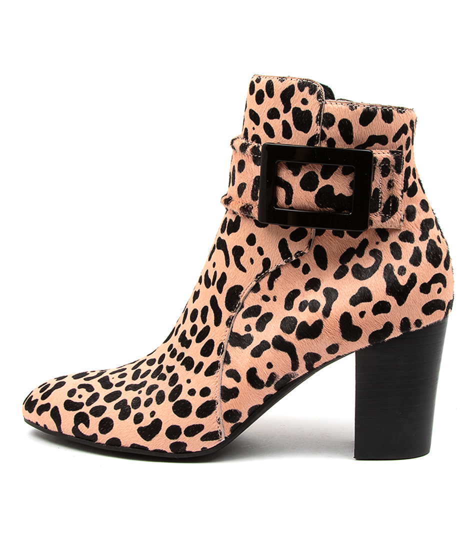 Buy Django & Juliette Lidie Dj Nude Leopard Ankle Boots online with free shipping