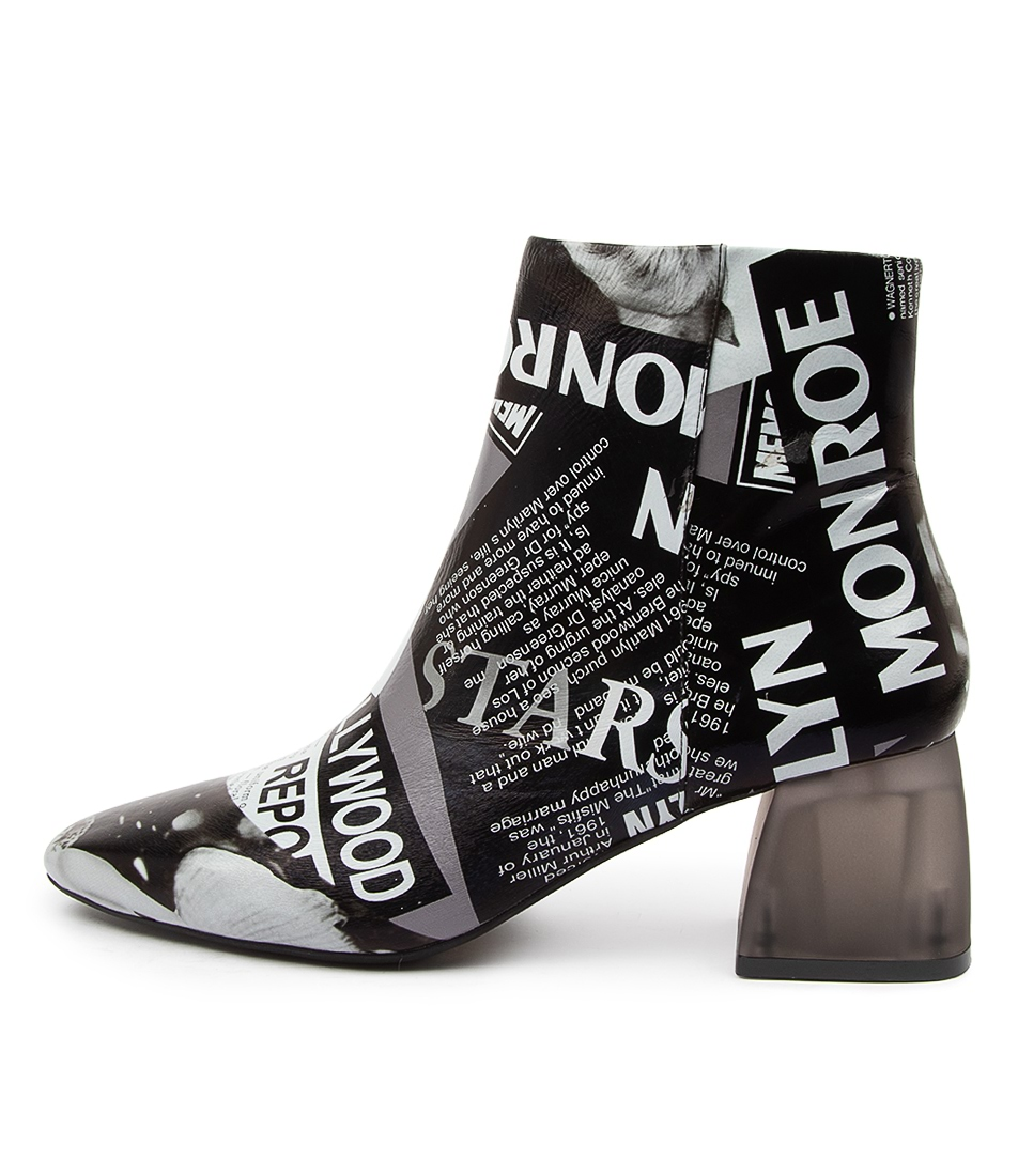 Buy Django & Juliette Manson Dj News Print Dress Ankle Boots online with free shipping