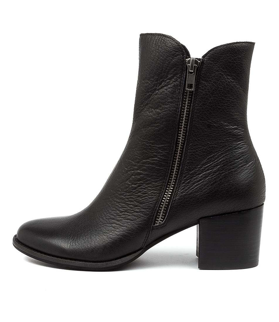 Buy Django & Juliette Mockup Dj Black Heel Ankle Boots online with free shipping
