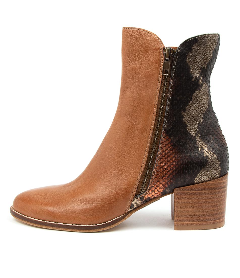 Buy Django & Juliette Mockup Dj Dk Tan Rustic Ankle Boots online with free shipping