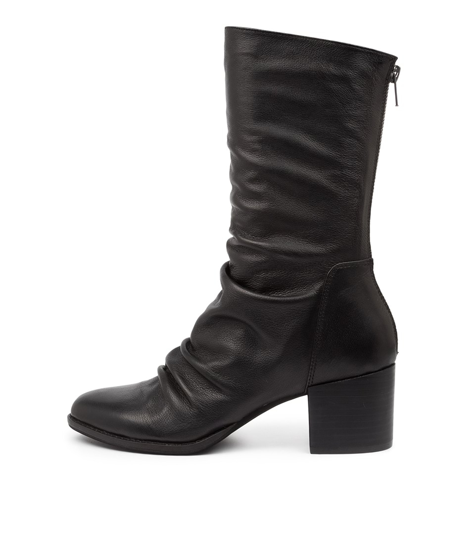 Buy Django & Juliette Mizzly Dj Black Heel Calf Boots online with free shipping