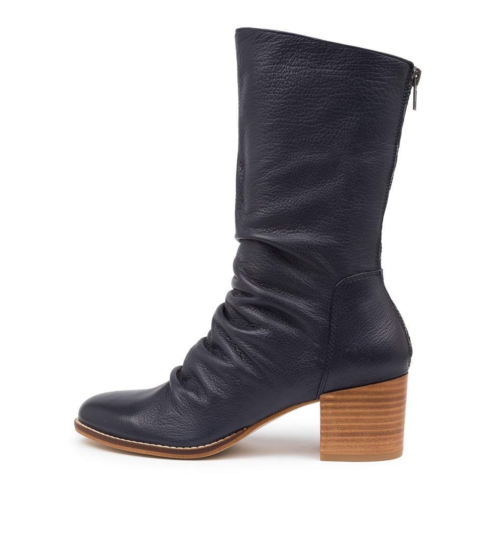 Buy Django & Juliette Mizzly Dj Navy Calf Boots online with free shipping
