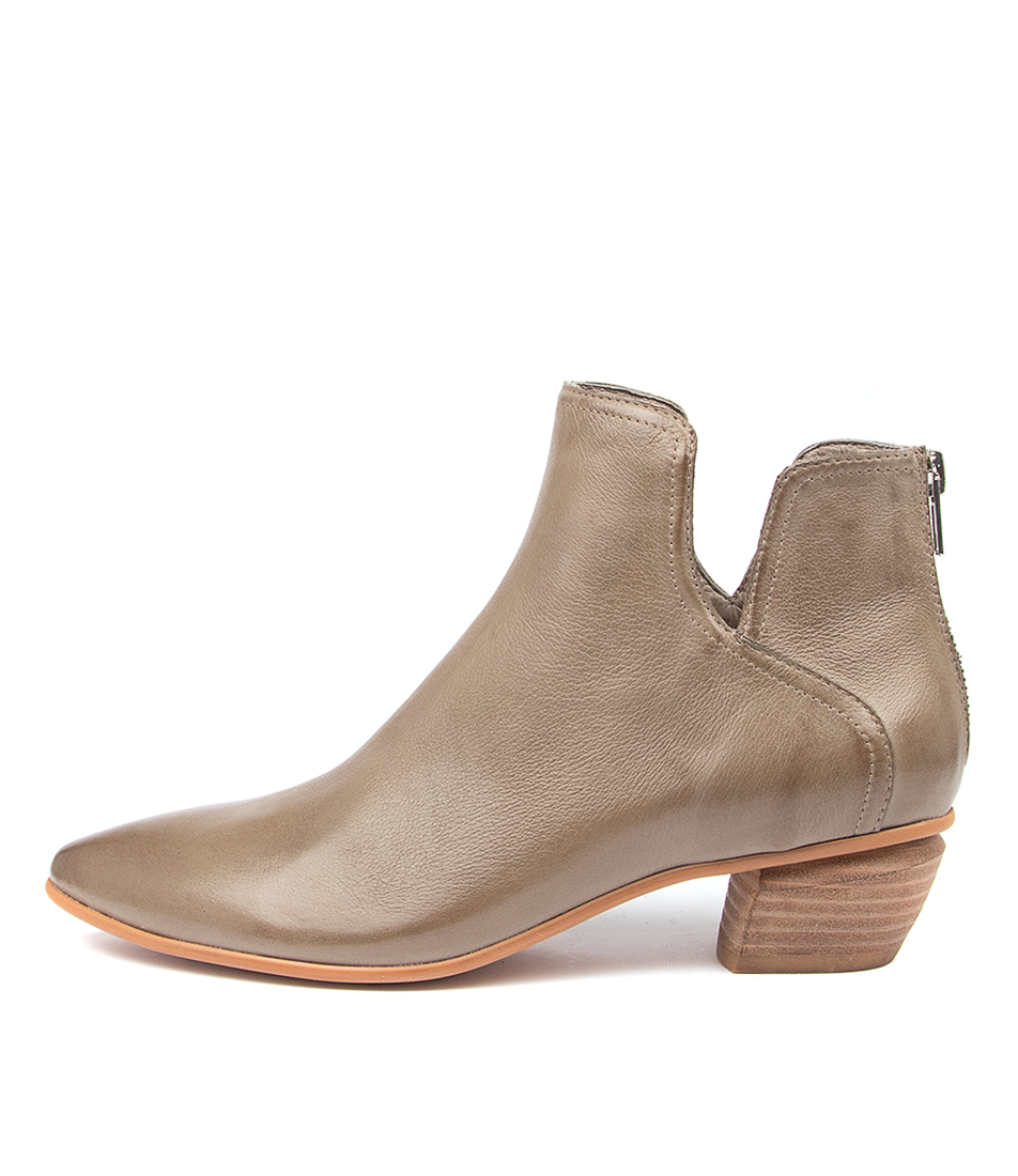Buy Django & Juliette Nitpick Dj Khaki Ankle Boots online with free shipping
