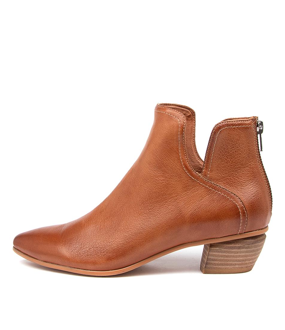 Buy Django & Juliette Nitpick Dj Tan Ankle Boots online with free shipping